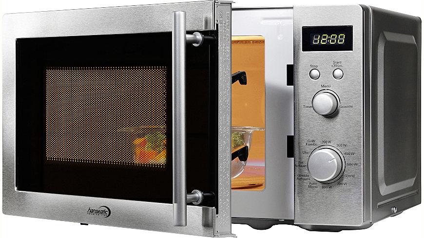 Hanseatic Premium-Line Mikrowelle, 20 Liter Garraum, Grillfunktion, 800 Watt