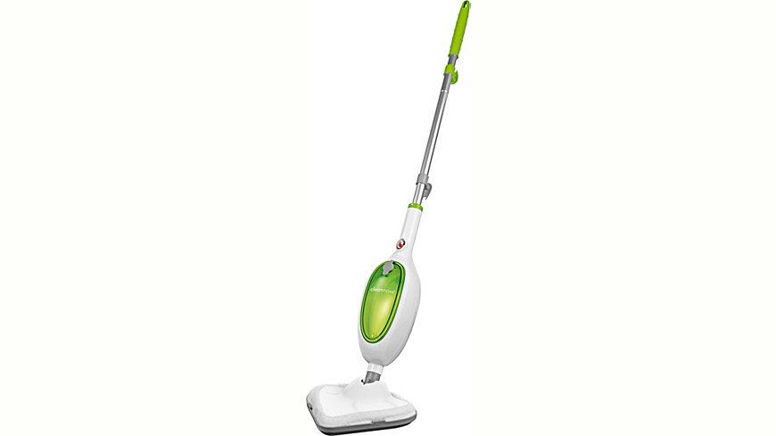 Clean Maxx Dampfbesen Kompakt, weiß-limegreen, grün