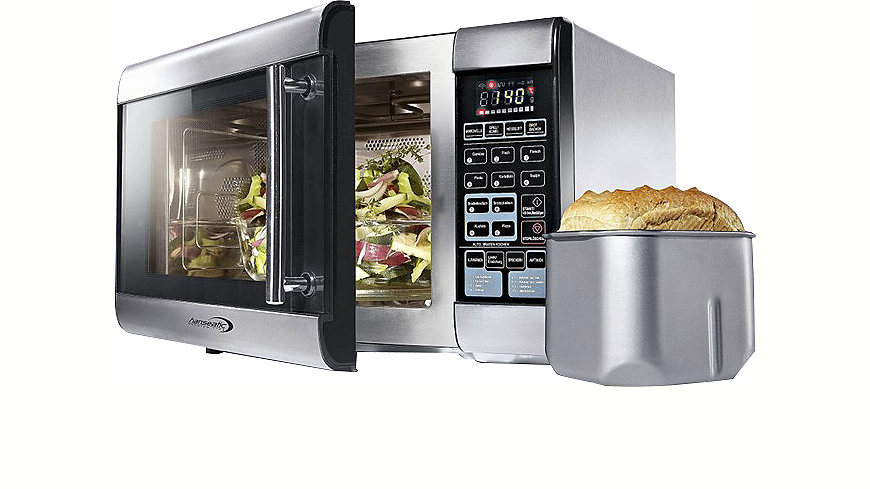 Hanseatic Premium-Line Kombi-  Mikrowelle, mit Brotbackfunktion, Grill und