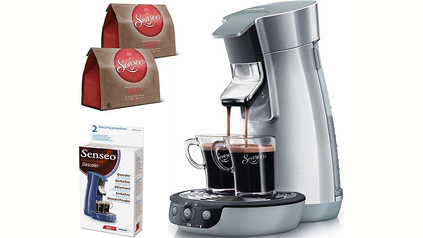 Philips SENSEO® Kaffeepadmaschine HD7828/50 Viva Café, metallic