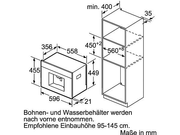 neff einbau kaffeevollautomat cks 1561 n c15ks61n0 integrierter milchtank energieeffizienz. Black Bedroom Furniture Sets. Home Design Ideas