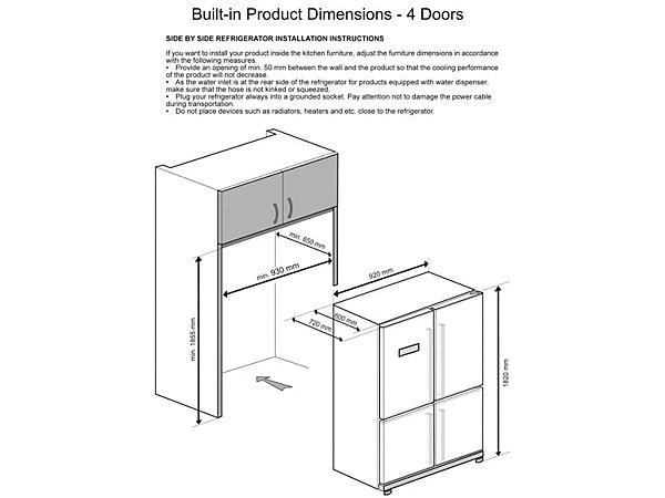 grundig side by side 4 t rig gqn 1360 x a 182 cm hoch nofrost energieeffizienz a. Black Bedroom Furniture Sets. Home Design Ideas