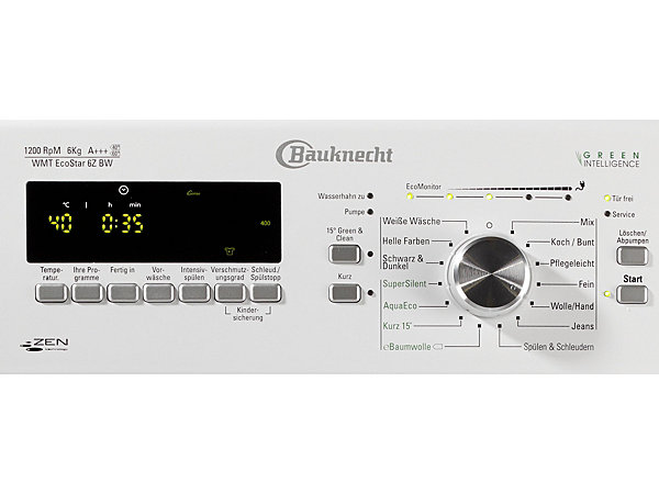 bauknecht waschmaschine toplader wmt ecostar 6z bw a. Black Bedroom Furniture Sets. Home Design Ideas