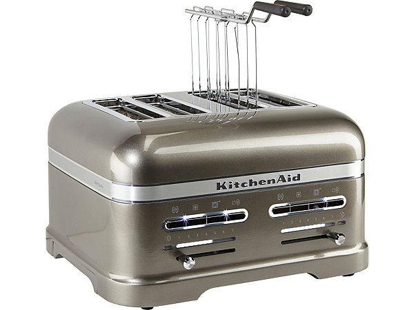 kitchenaid 4 scheiben toaster artisan 5kmt4205ems 2500 watt medallion silber ekinova. Black Bedroom Furniture Sets. Home Design Ideas