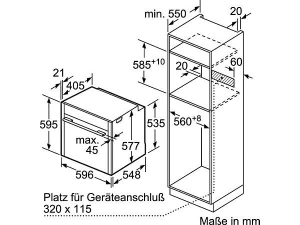 neff backofen bvt 5664 n b56vt64n0 mit pyrolyse selbstreinigung energieeffizienz a ekinova. Black Bedroom Furniture Sets. Home Design Ideas