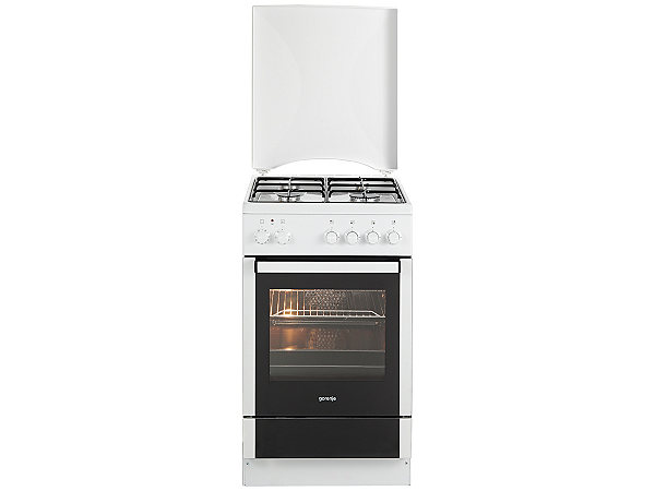 gorenje gas elektro standherd k 57120 aw a 50 cm breit energieeffizienz a ekinova. Black Bedroom Furniture Sets. Home Design Ideas