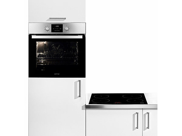 gorenje induktions backofen set blankenese a mit uhr energieeffizienz a ekinova. Black Bedroom Furniture Sets. Home Design Ideas