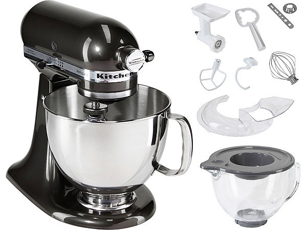 jetzt kitchenaid k chenmaschine artisan 5ksm156ebz inkl sonderzubeh r im wert von ca 180. Black Bedroom Furniture Sets. Home Design Ideas