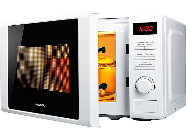 hanseatic mikrowelle mit grill 20 liter garraum 700 watt ekinova. Black Bedroom Furniture Sets. Home Design Ideas